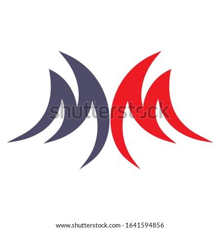 Creative MM logo design for financial business companies, technology companies