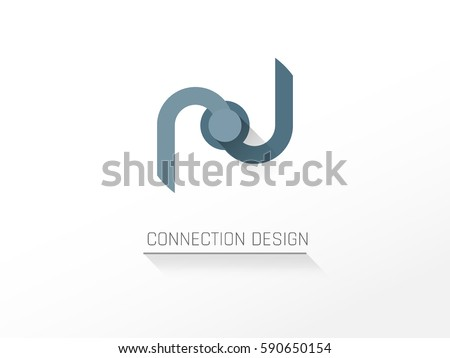 Creative Modern Connection Icon,Connection Concept