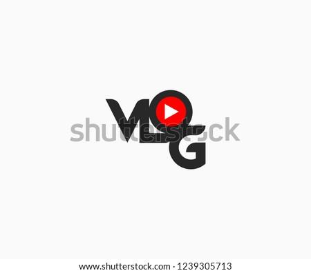 Creative Modern Minimal Typography VLOG Letter Logotype