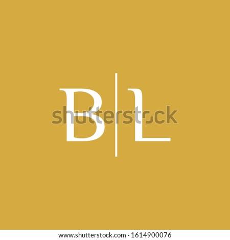 Creative modern Minimalist letter BL logo design vector Stock fotó ©