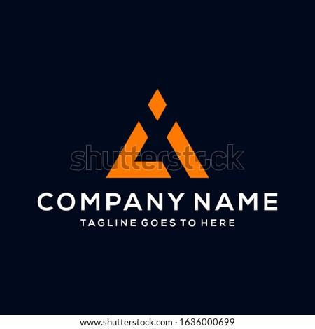 Creative modern Minimalist Letter CI logo icon design template elements Stock fotó ©