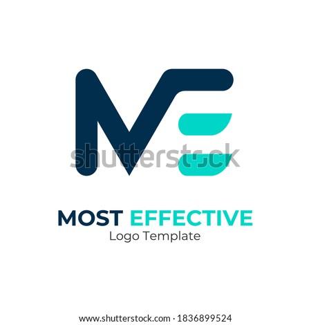 Creative Modern Monogram Logo Letter M E. Vector Simple Luxury Initial Design Stok fotoğraf ©