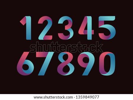creative modern number