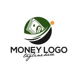Creative Money Concept Logo Design Template