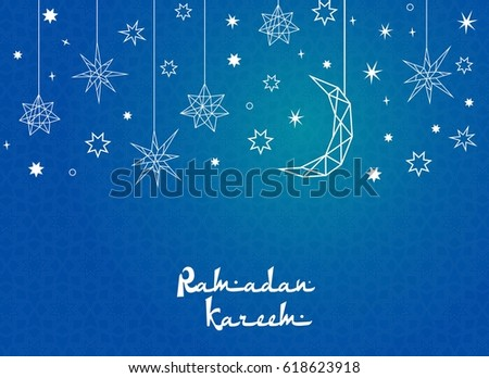 creative moon with star  for