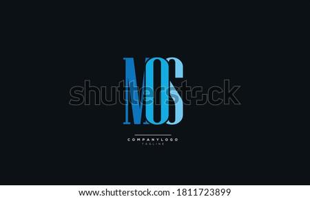 Creative MOS Letter Business Logo Design Alphabet Icon Vector Monogram  Stock fotó ©