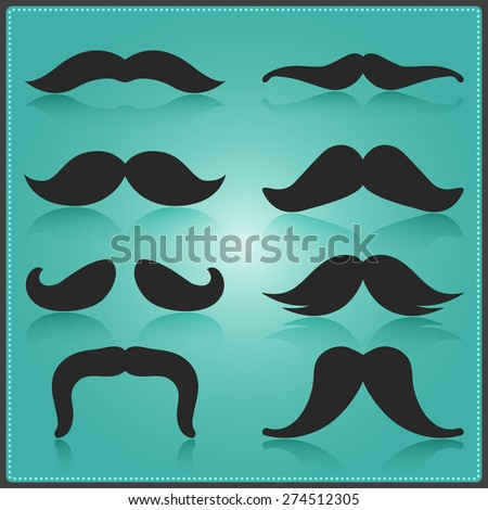 creative moustache vector