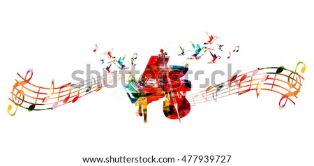 creative music concept vector