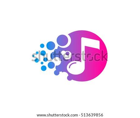 creative music logo design