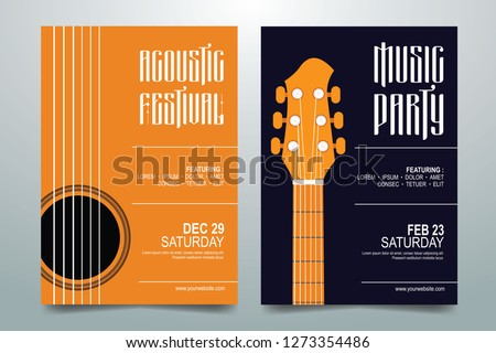 Creative Music party / festival poster, flyer, brochure template. vector illustration ストックフォト ©