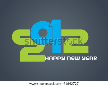 creative new year 2012 design.Vector illustration