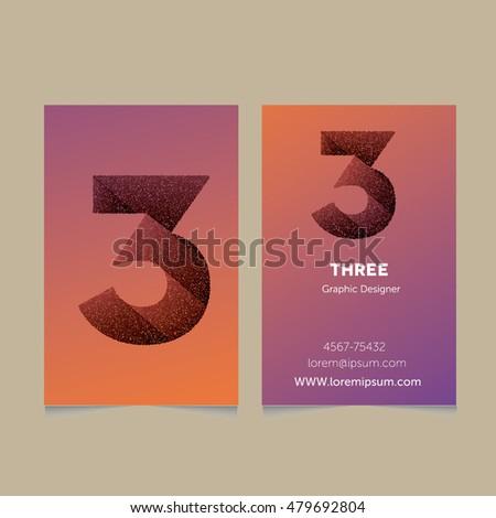 creative number 3 design vector