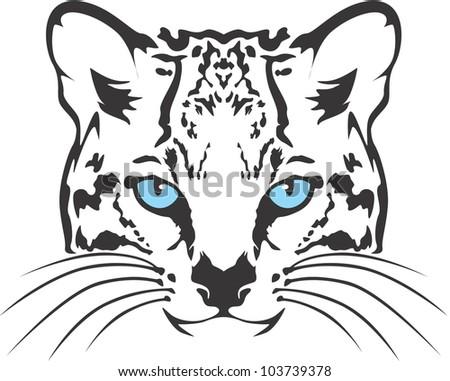 creative ocelot cat illustration