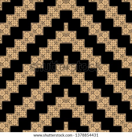 creative orange black Art Deco pattern in ethnic style Aztec style hipster style