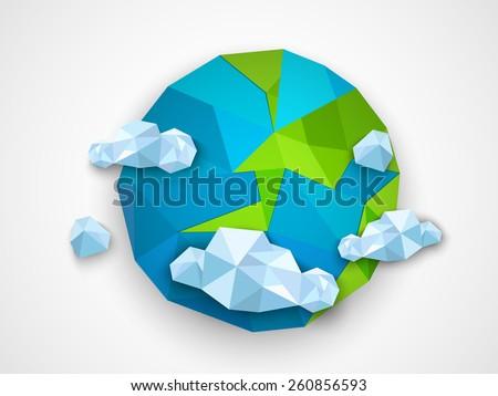 creative origami globe with