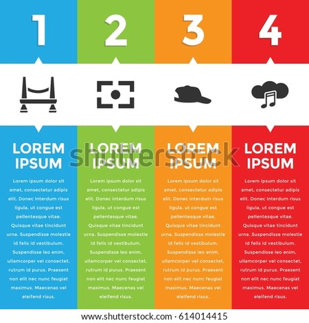 creative outline infographic