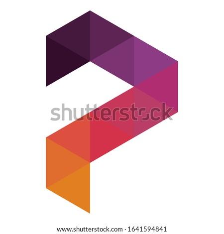 Creative P logo design for financial business companies, technology companies