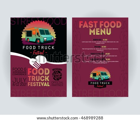 Vector Images Illustrations And Cliparts Creative Party Invitation - Food truck flyer template