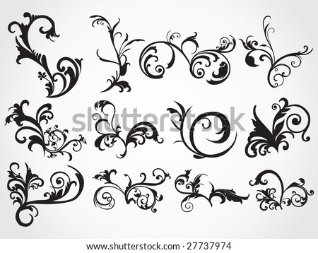 stock vector : creative pattern background, tattoo