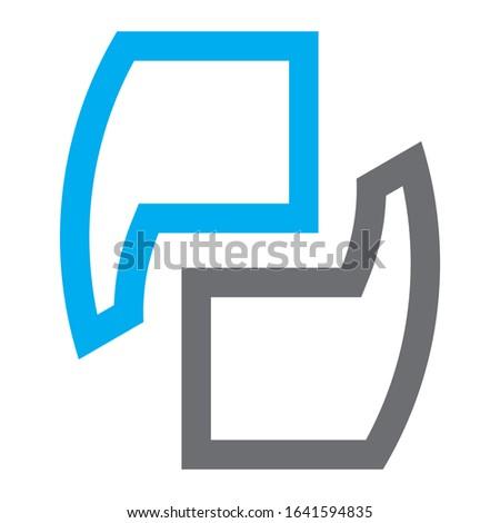 Creative PD logo design for financial business companies, technology companies