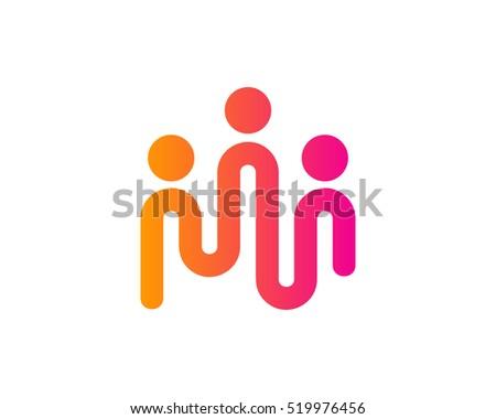 Creative People Logo Design Template