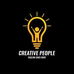Creative people logo design template.Future idea logo design concept. Vector illustration