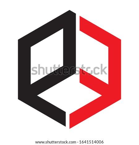 Creative PF logo design for financial business companies, technology companies