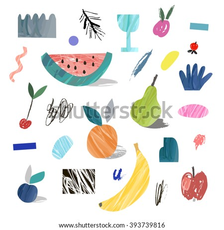creative poster with fruits