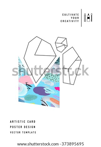 creative  poster with geometric