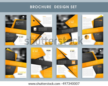 Royaltyfree Classic Gray Brochure Template Design - Professional brochure design templates