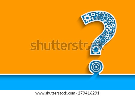 creative question mark with