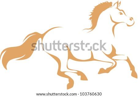 Creative Race Horse Illustration