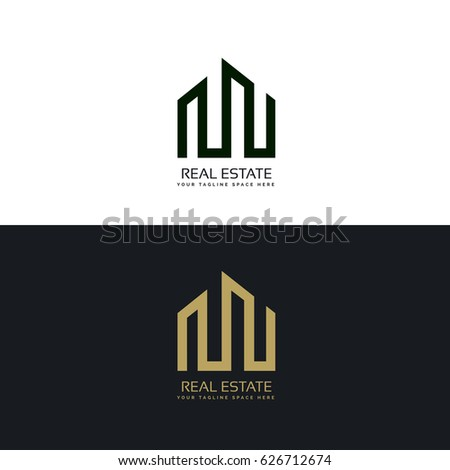 creative real estate business logo design template