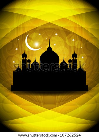 Creative religious eid background. Vector illustration - stock vector
