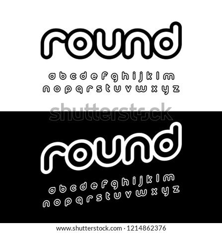 Creative rounded alphabet. Typography modern style font set for logo, Poster, Invitation. vector illustrator