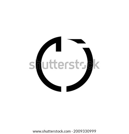 Creative Rounded Initial CI Letters Logo Stock fotó ©