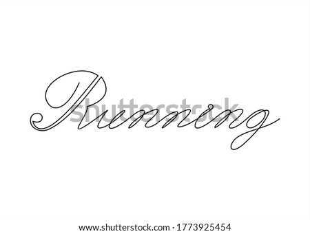 Creative running logo.Continuous line drawing.