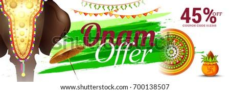 Creative Sale Banner Or Sale Poster For Festival Of Onam Celebration.