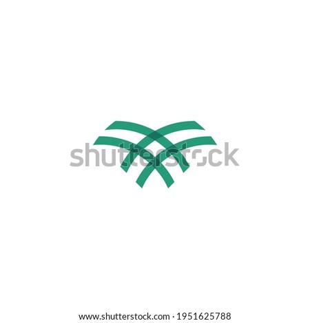 Creative Saudi Arabia palm tree icon logo design vector illustration.