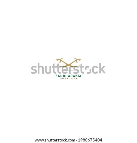 Creative Saudi Arabia sword icon logo design vector illustration Photo stock ©