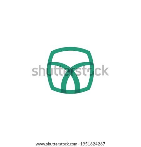 Creative Saudi palm tree icon logo design vector illustration.
