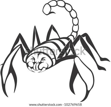 Creative Scorpion Illustration - stock vector