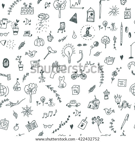 creative seamless pattern with