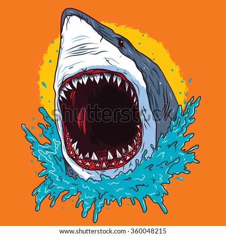 creative shark attack   vector