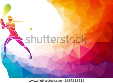 creative silhouette of female