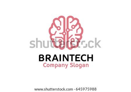 creative smart brain tech logo