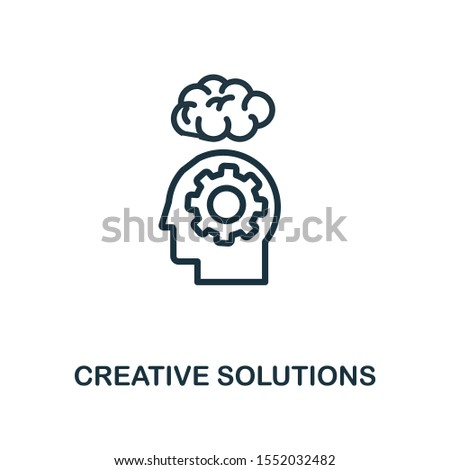 Creative Solutions icon outline style. Thin line creative Creative Solutions icon for logo, graphic design and more.