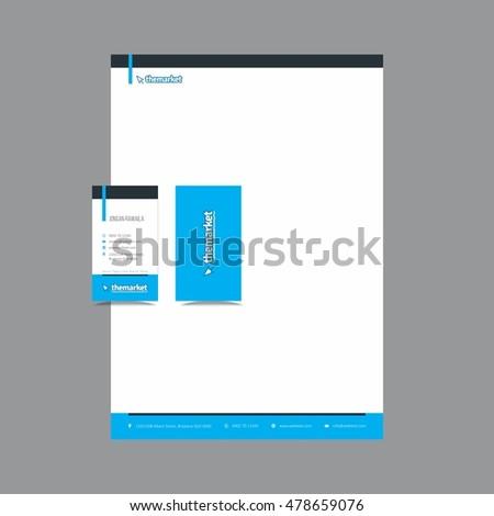 Creative Stationary Letterhead and Business Card Design  #478659076