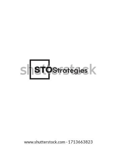 Creative STO strategies logo template, vector logo for inspirations