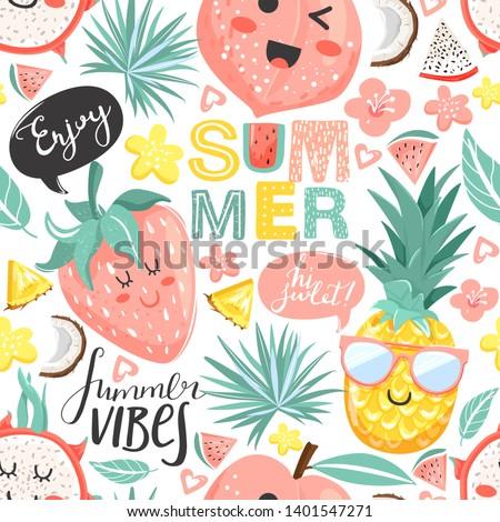 creative summer collage